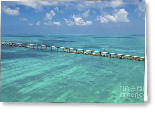Florida Keys Greeting Cards - Overseas Highway Greeting Card by Patrick M Lynch