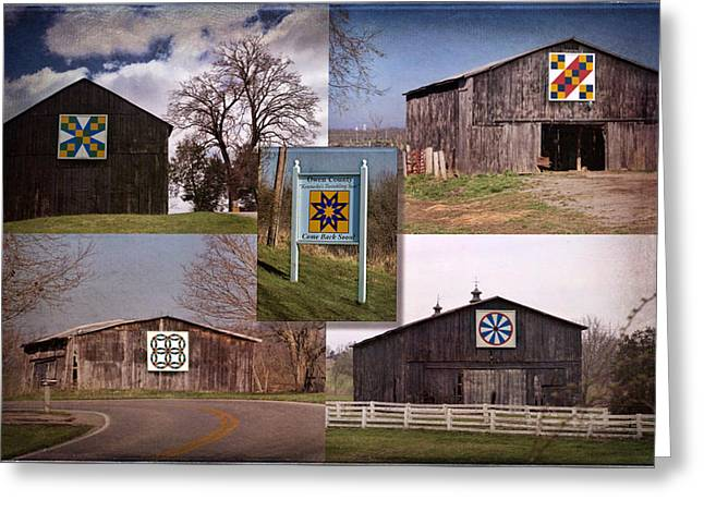 Owen County Quilt Trail, Kentucky Greeting Card by Rebecca Snyder