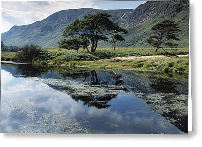 Reflecting Water Greeting Cards - Owenveagh River, Glenveagh National Greeting Card by The Irish Image Collection