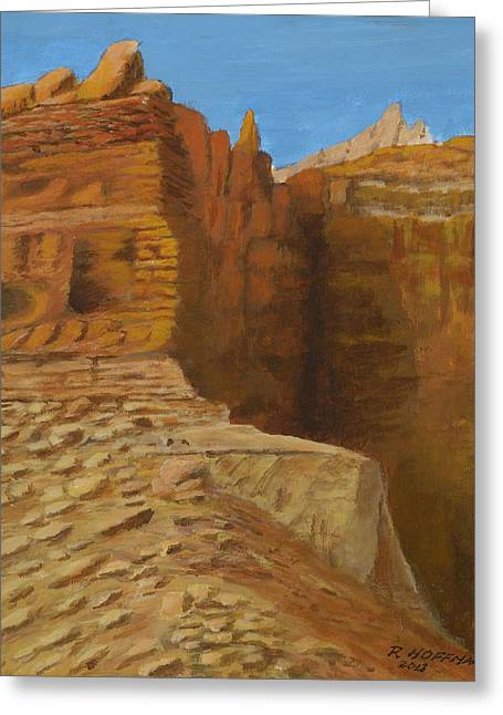 Snow Scene Landscape Greeting Cards - Owl Eyes Cliff in Grand Canyon Greeting Card by Robert Hoffman