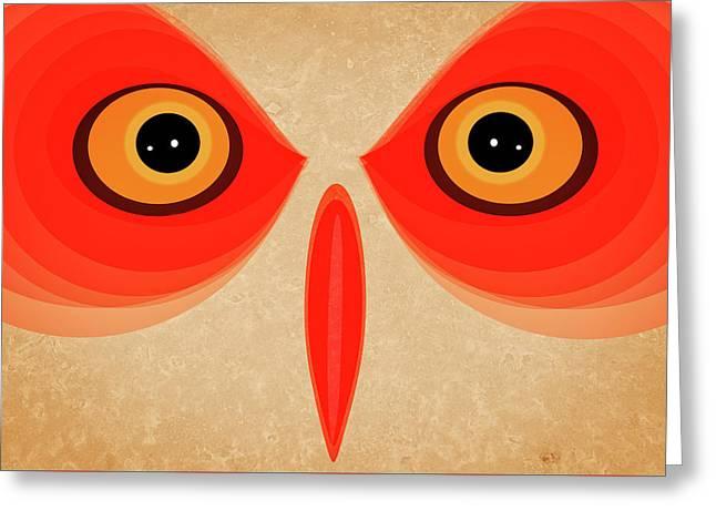 Owl Greeting Card by Johan Lilja