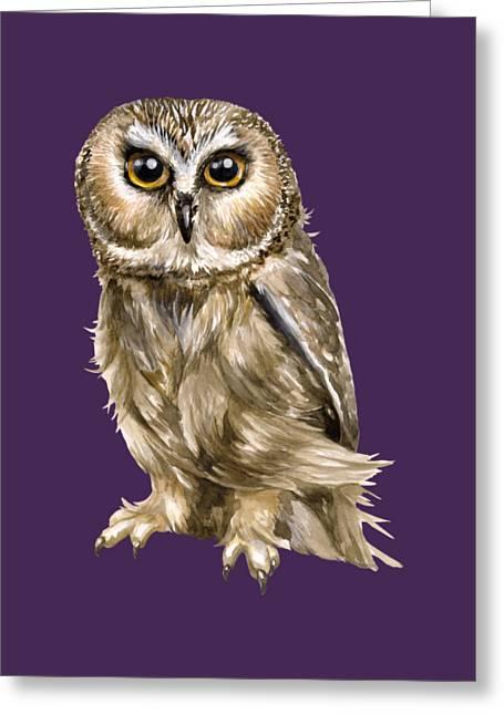 Fantasy World Greeting Cards - Owl Greeting Card by Rasa OM