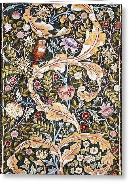 Recently Sold -  - Flower Design Greeting Cards - Owl Greeting Card by William Morris