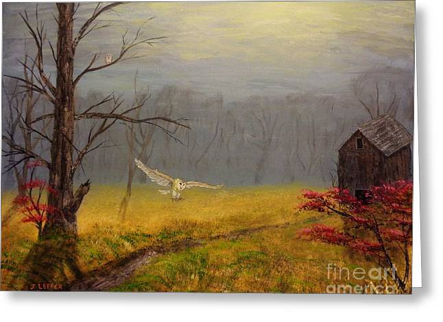 Shack Greeting Cards - Owls Retreat Tobacco Trail Greeting Card by Jack Lepper