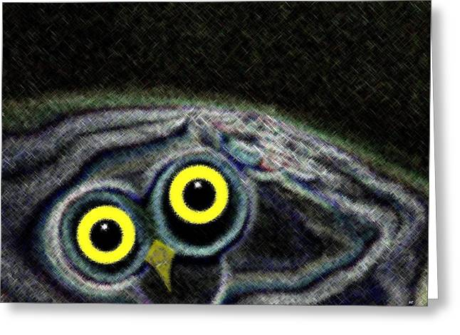 Owly Greeting Card by Will Borden