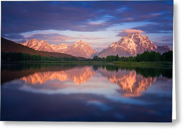 Snake River Greeting Cards - Oxbow Greeting Card by Darren  White