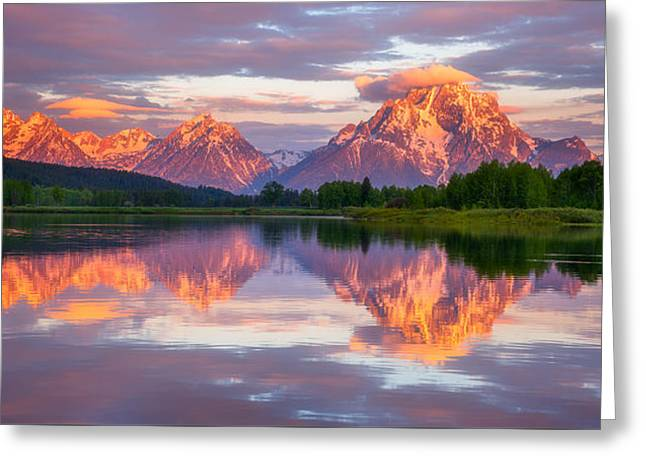 Grand Teton National Park Greeting Cards - Oxbow Magic Greeting Card by Darren  White