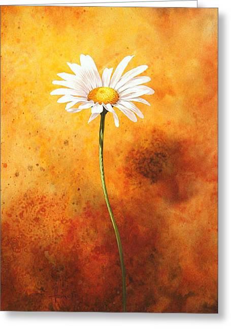 Background Paintings Greeting Cards - Oxeye Greeting Card by John Francis