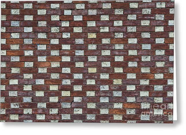 Oxford Brick Wall Greeting Card by Tim Gainey