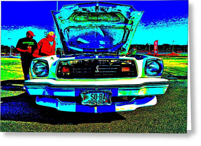 Mach I Greeting Card featuring the photograph Oxford Car Show 50 by George Ramos