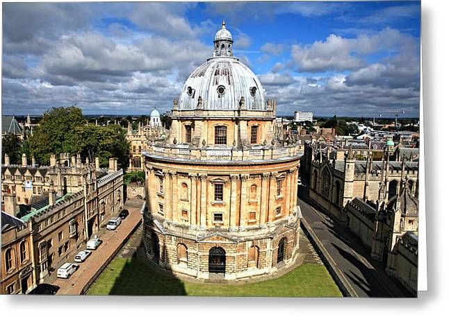Historic Architecture Greeting Cards - Oxford library and spires Greeting Card by Paul Cowan