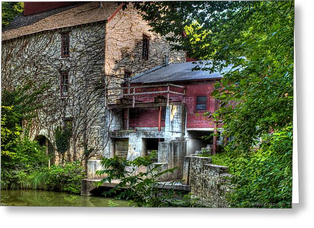 Grist Mill Greeting Cards - Oxford Mill-Summertime Greeting Card by Michael Ciskowski