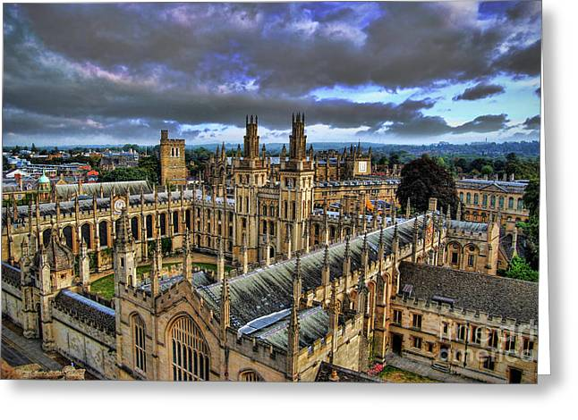 Souls Photographs Greeting Cards - Oxford University - All Souls College Greeting Card by Yhun Suarez
