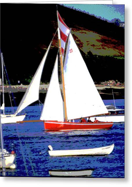 Working Boats Greeting Cards - Oyster Boats Greeting Card by Brian Roscorla