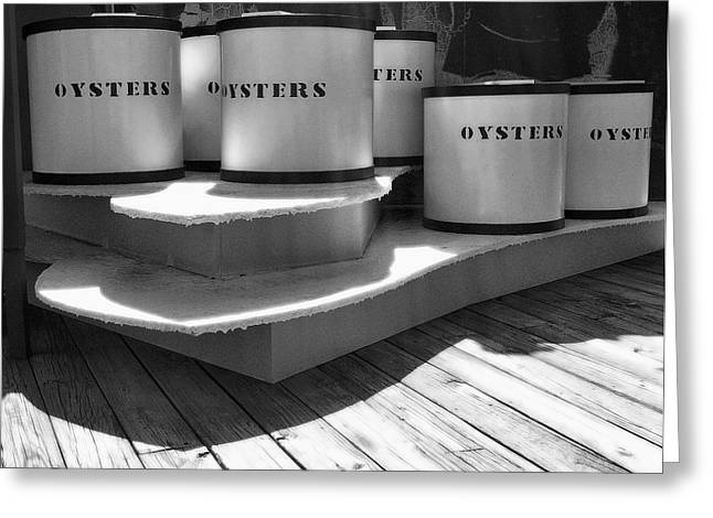 Eastern Shore Greeting Cards - Oyster Containers Greeting Card by Steven Ainsworth