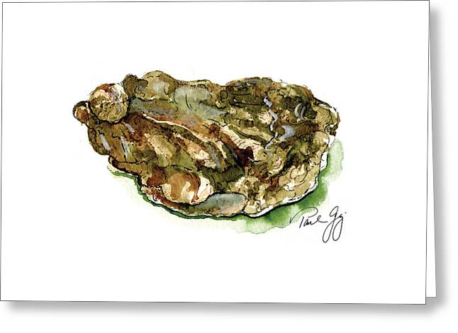 Oyster Greeting Card by Paul Gaj