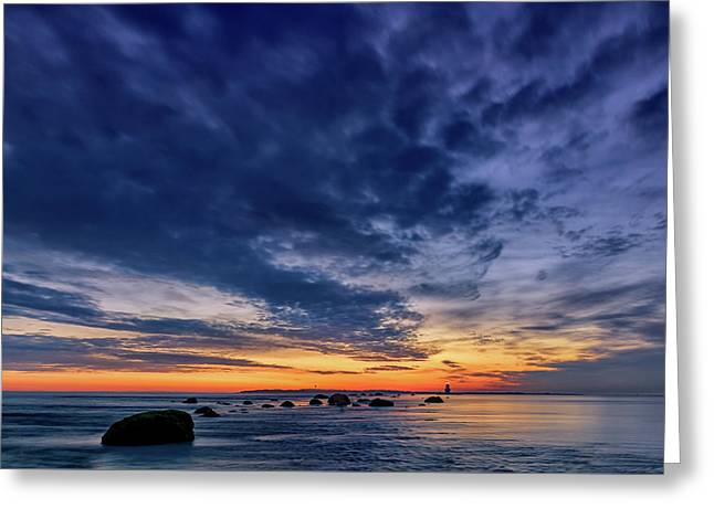 Oyster Pond Reef At Orient Point Greeting Card by Rick Berk