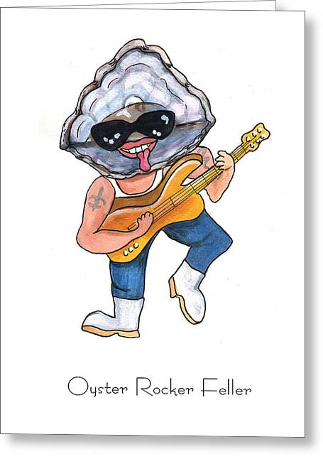 Crawfish Greeting Cards - Oyster Rocker Feller Greeting Card by Elaine Hodges