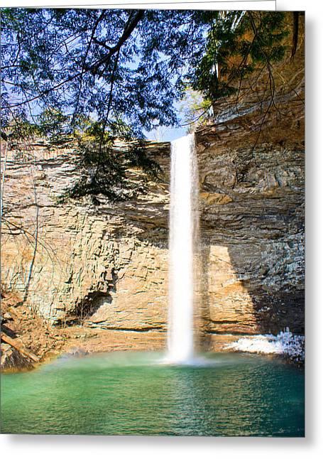 Recreational Pool Greeting Cards - Ozone Falls Focus Greeting Card by Douglas Barnett