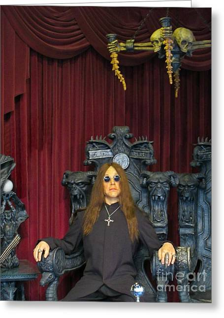 Chairs Sculptures Greeting Cards - Ozzy Wax Figure Greeting Card by John Malone