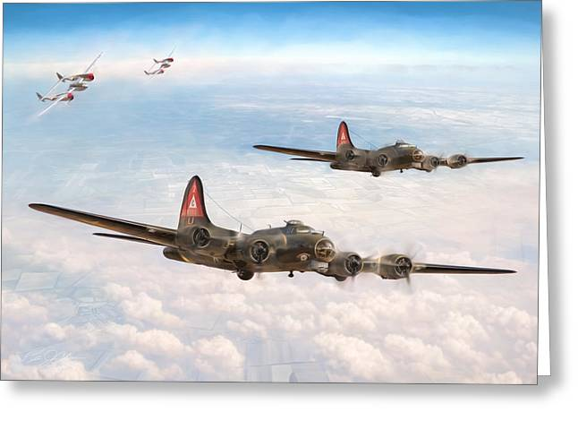 38 Greeting Cards - P-38 Close Cover Greeting Card by Peter Chilelli