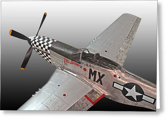 P51 Photographs Greeting Cards - P-51 Etta Jeanne ii Greeting Card by Gill Billington