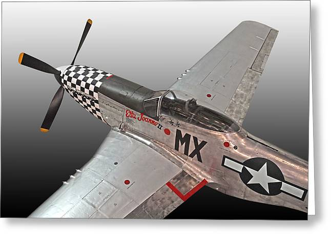 North American P51 Mustang Photographs Greeting Cards - P-51 Etta Jeanne ii Greeting Card by Gill Billington