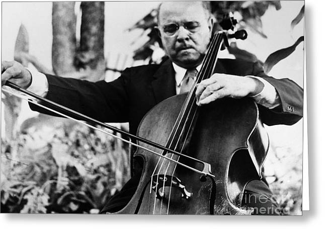Pablo Greeting Cards - Pablo Casals (1876-1973) Greeting Card by Granger
