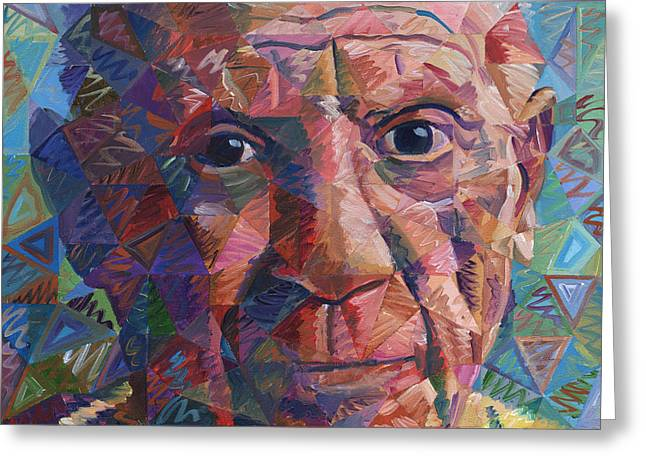 Pablo Ruiz Greeting Cards - Pablo Picasso Greeting Card by Randal Huiskens