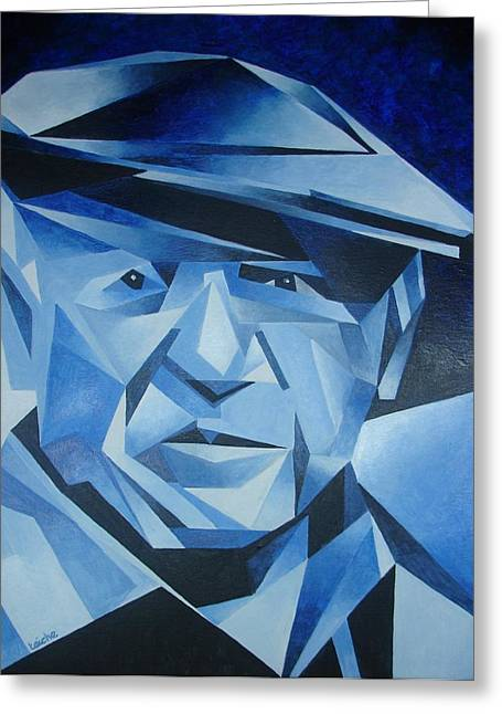Pablo Picasso Paintings Greeting Cards - Pablo Picasso The Blue Period Greeting Card by Tracey Harrington-Simpson