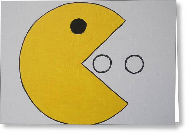 Pac-man Greeting Cards - Pac-man Greeting Card by James Osborn