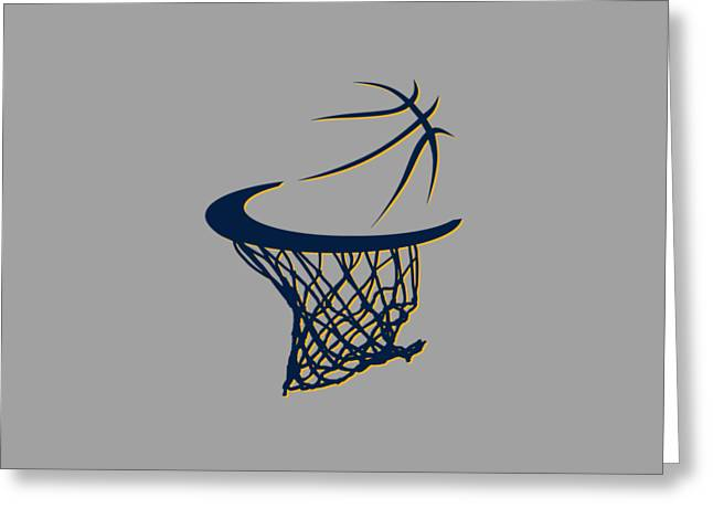 T Shirts Greeting Cards - Pacers Basketball Hoop Greeting Card by Joe Hamilton