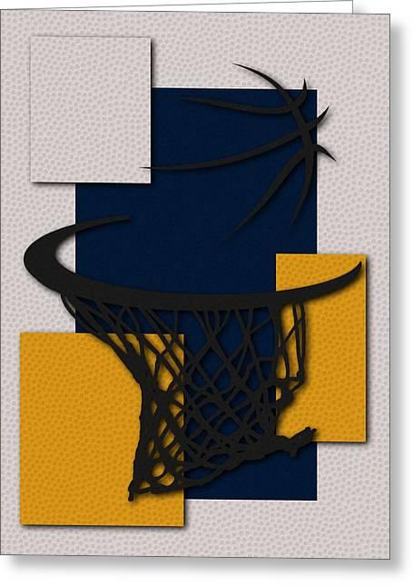 Basket Ball Greeting Cards - Pacers Hoop Greeting Card by Joe Hamilton