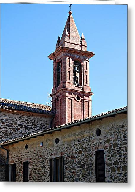 Medieval Temple Greeting Cards - Paciano Bell Tower Greeting Card by Dorothy Berry-Lound