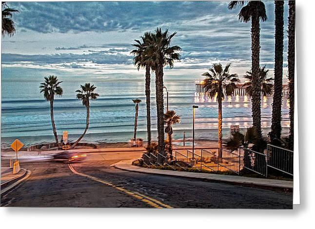 Pacific And 1st Street Greeting Card by Ann Patterson