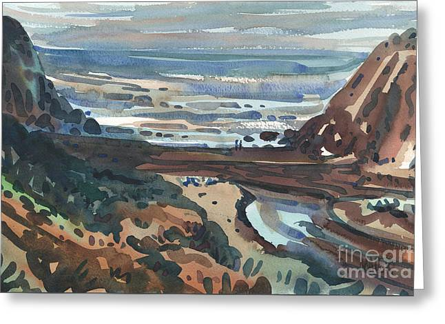 Pacific Beach Day Greeting Card by Donald Maier