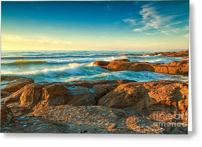 Rocks Greeting Cards - Pacific Breakers Greeting Card by Reflective Moment Photography And Digital Art Images