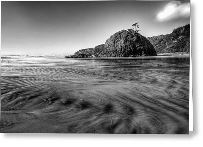 Sand Patterns Greeting Cards - Pacific Coast Tide Greeting Card by Drew Castelhano