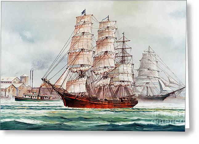 Tall Ships Greeting Cards - Pacific Fleet Greeting Card by James Williamson