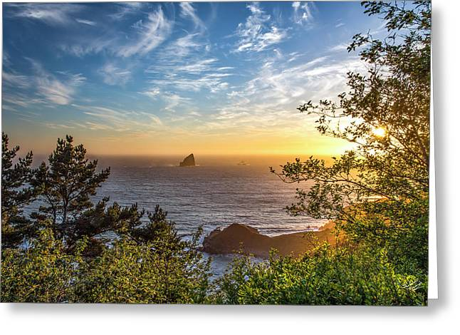 Pacific Gold Greeting Card by Leland D Howard