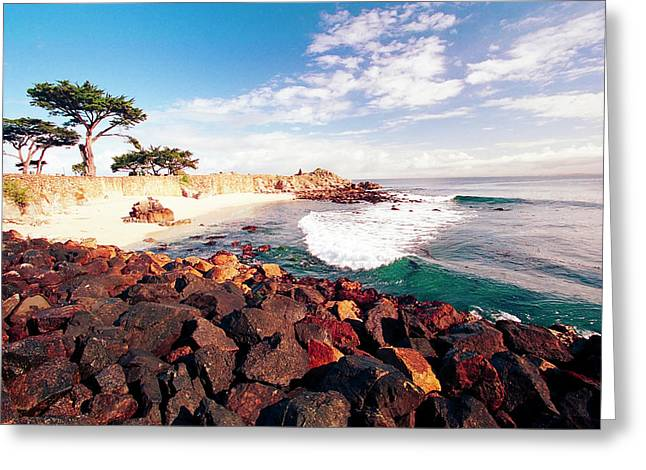 Pacific Grove Beach Greeting Cards - Pacific Grove Bay  Greeting Card by George Oze