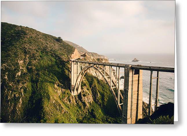 Bixby Bridge Greeting Cards - Pacific Highway Through Big Sur Greeting Card by Michael Haslem
