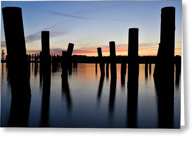 Pacific Nw Sunset Greeting Card by Rachel Cash