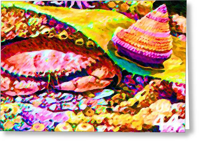 Kelp Forest Greeting Cards - Pacific rock crab Greeting Card by Lanjee Chee