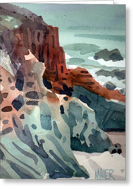 Pacific Coast Greeting Cards - Pacific Shoreline Greeting Card by Donald Maier