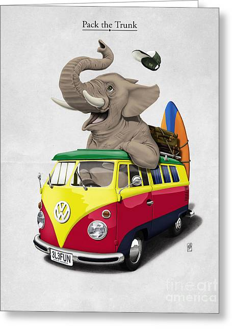 Volkswagen Greeting Cards - Pack the Trunk Greeting Card by Rob Snow
