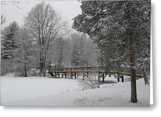 Wayne - New Jersey Greeting Cards - Packanack Bridge Greeting Card by James Yellen