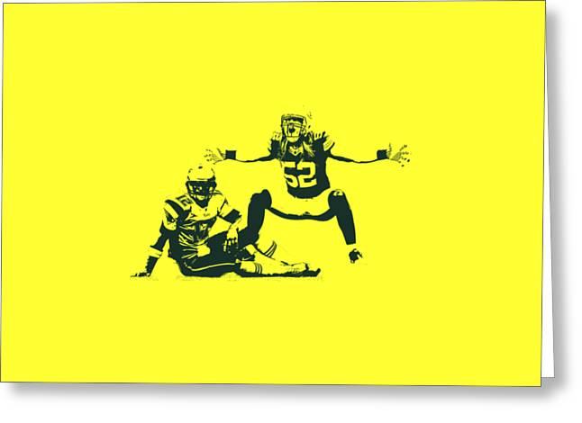 Packers Clay Matthews Sack Greeting Card by Joe Hamilton
