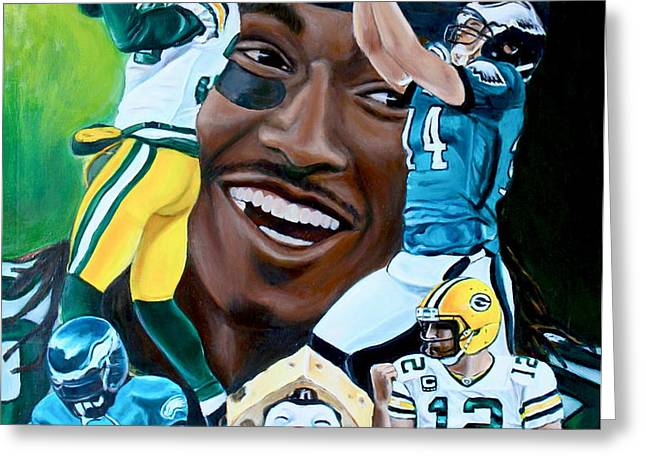 Packers  Glorious Moments Greeting Card by Dawn Graham