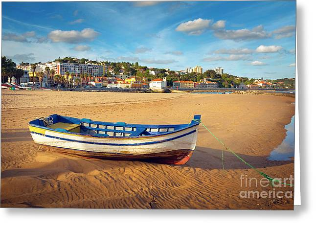 Historic City Pier Greeting Cards - Paco dArcos beach Greeting Card by Carlos Caetano